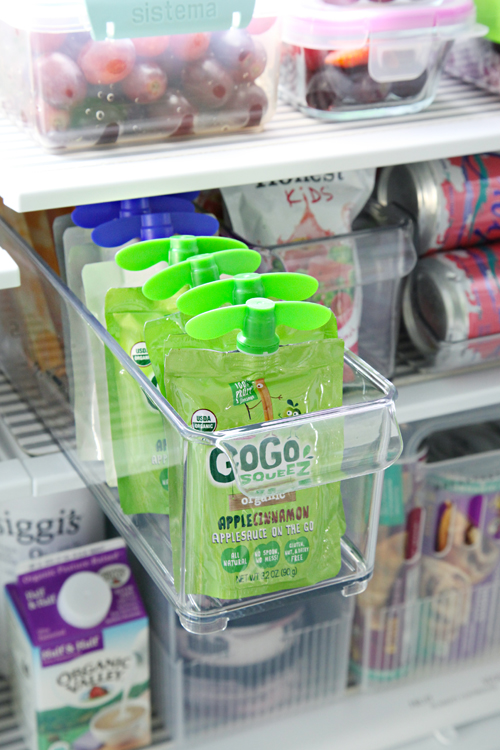 organized counter depth fridge freezer drawer with tips