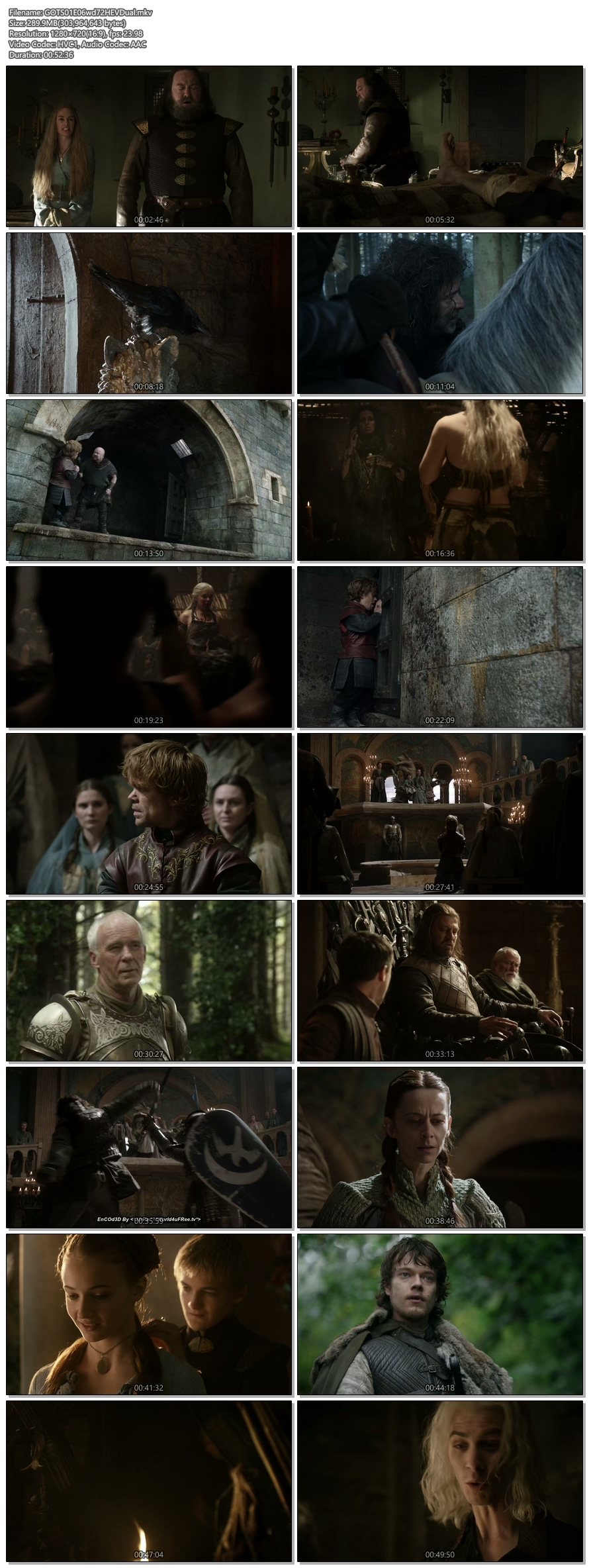 Screenshots Of Hindi Dubbed Show Game Of Thrones 2011 Season 01 Episode 06 300MB 720P HD