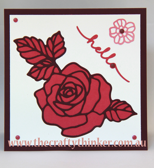 SU, Stampin Up, Rose Garden Thinlit, Card with no stamping