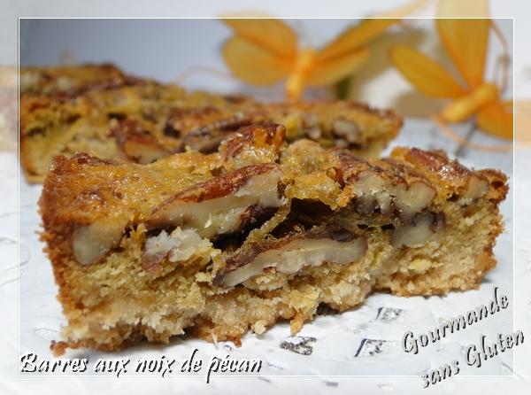 Bares aux noix de pécan, sans gluten