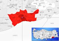 Artuklu ilçesinin nerede olduğunu gösteren harita