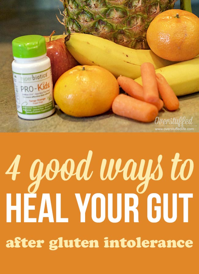 Tips for healing the gut after going gluten-free—A diagnosis of Celiac or any type of gluten intolerance usually means that your gut will need a lot of extra help to heal. These ideas will help!