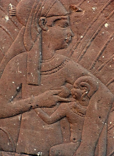 One example of the African culture understanding the natural importance of breasts is the Temple of Horus at Edfu built between 237 BC and 57 BC.