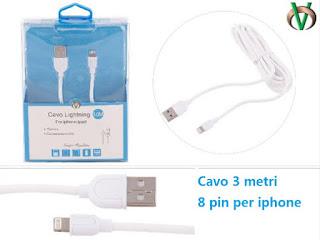CAVO DATI IPHONE 3 METRI VCOM