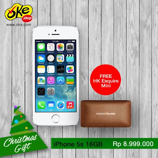 Promo iPhone 5s Rp 8.999.000 Christmas Gift Bonus Speaker HK Esquire Mini di OkeShop