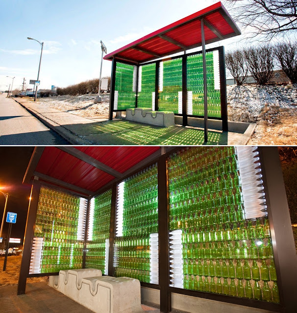 Eco-friendly bus stop