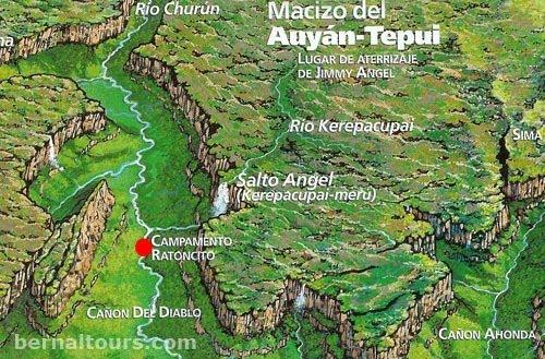 mapa da cachoeira mais alta do mundo