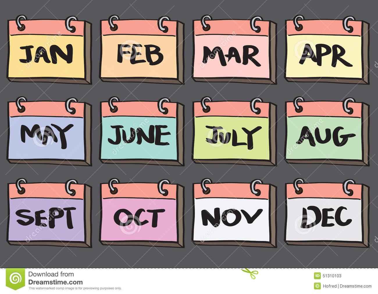 months - เดือนภาษาอังกฤษ