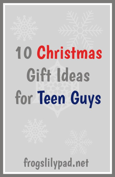Looking for gift ideas for teen guys? 10 Christmas Gift Ideas for Teen Guys by a teen guy, my son. frogslilypad.net