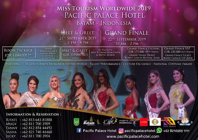 Pasific Palace Hotel Batam Terpilih Sabagai Tuan Rumah Miss Tourism Worldwide 2019