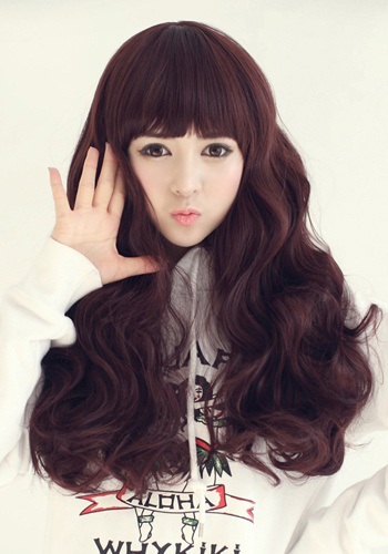 korean long hair style 5 model gaya rambut panjang cewek korea terbaru 2017 4101 | long wavy hair volume bangs11