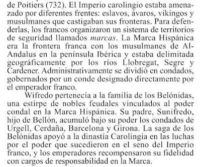 """Si los catalanistes li diuen a la Comunidat Valensiana """"país valensiá"""" entonces podrém díli a Cataluña """"Marca Hispánica"""" y en mes raó.  * D. González Ruiz: Breve historia de las leyendas medievales, 2010"""