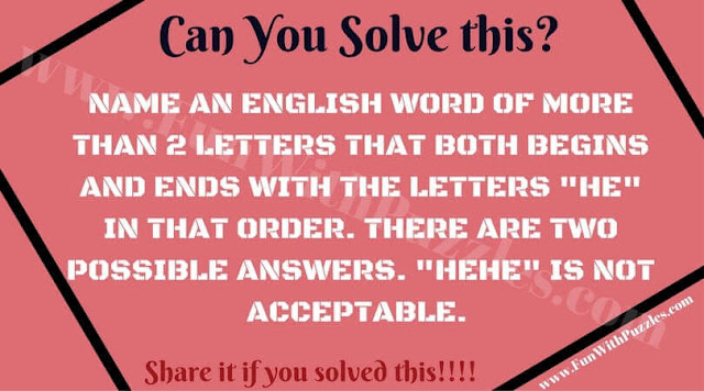 Word Brain Teaser to testing your mind