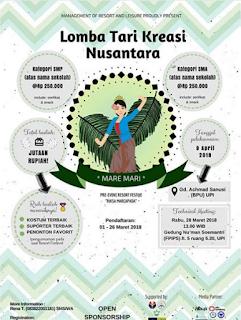 Lomba Tari Kreasi Nusantara 2018 Resort Festive