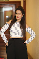 Manjusha in sleevelss crop top and black skirt at Darshakudu pre release ~  Exclusive Celebrities Galleries 112.JPG