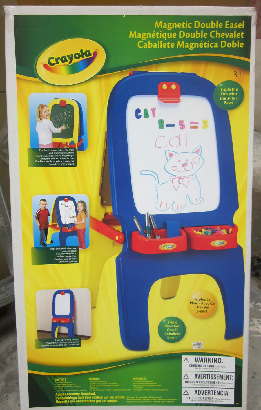 Magnetic Standing Easel Xben Double Sided Kids Drawing Board