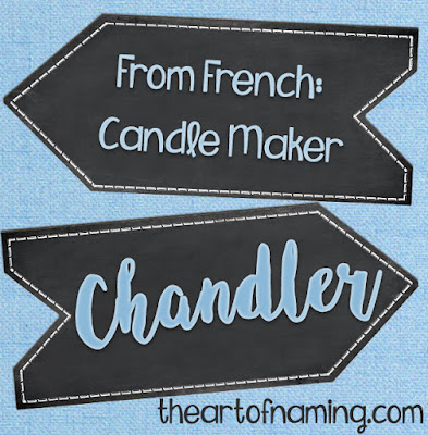 The Art of Naming - Old French Middle English occupational name meaning candle maker - friends