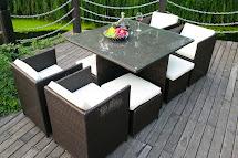 Modern Indoor Outdoor Weather Pe Wicker Rattan Table