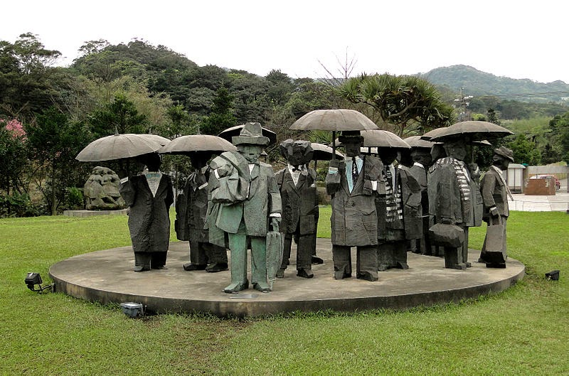 Men with Umbrellas, Ju Ming Museum
