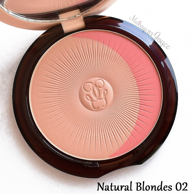 Guerlain Terracotta Healthy Glow Blush Bronzer Powder Duo Natural Blondes 02 Swatch