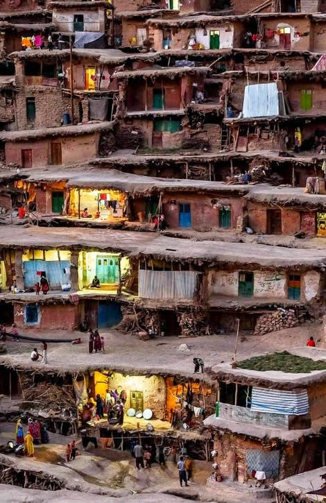roof-streets of Masuleh, Iran.
