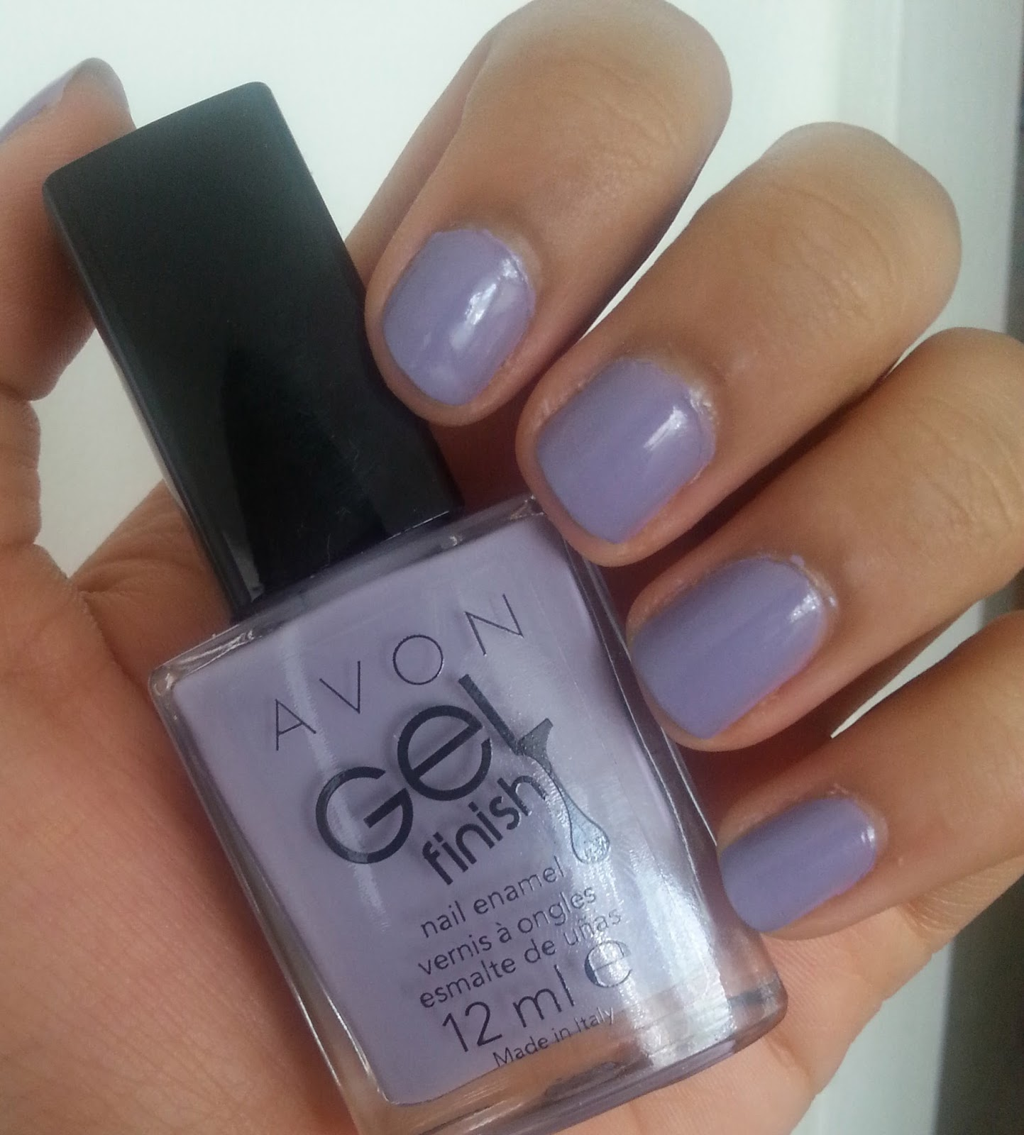 Avon Gel Finish Nail Enamel in Lavender Sky