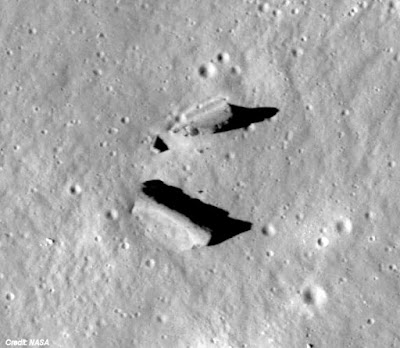 Unusual structures in Crater Paracelsus C
