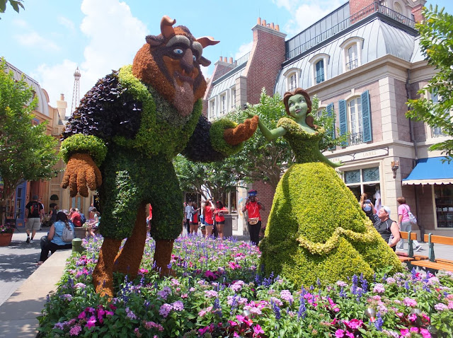 EPCOT Topiary Beauty and the Beast
