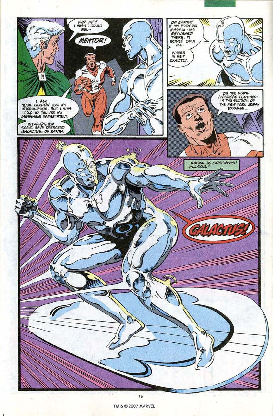 Read online Silver Surfer (1987) comic -  Issue #67 - 17