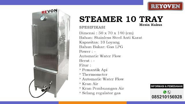 Steamer (Mesin Kukus) Kapasitas 10 Tray