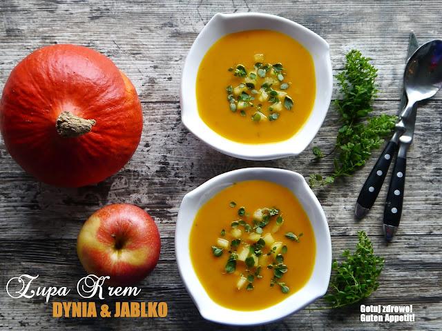 Zupa krem dynia & jabłko & majeranek - Czytaj więcej »