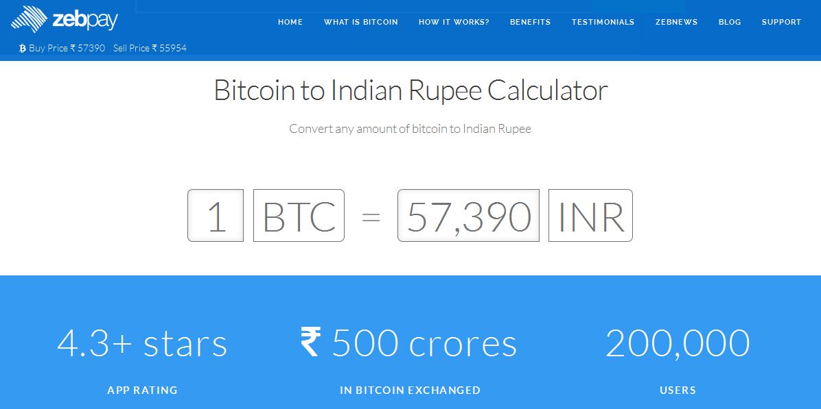 1 Bitcoin đang có giá khoảng $850 đến $1030 trên Zebpay