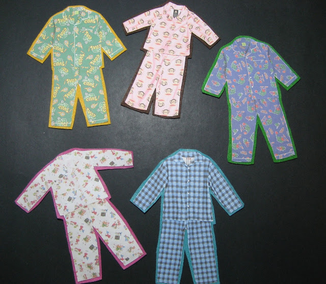 Flannel Board Five Pairs of Pajamas