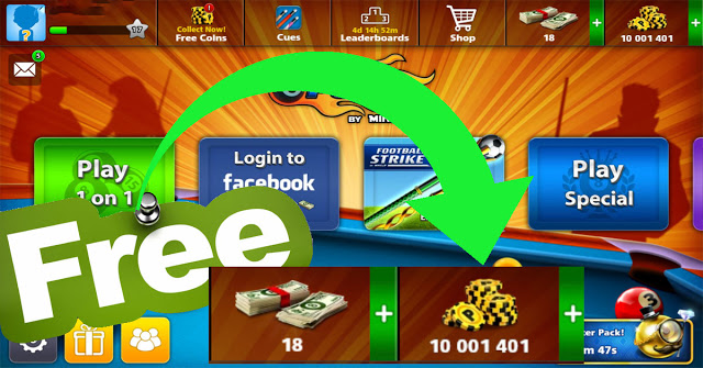Get 10 million coins 8 ball pool Free