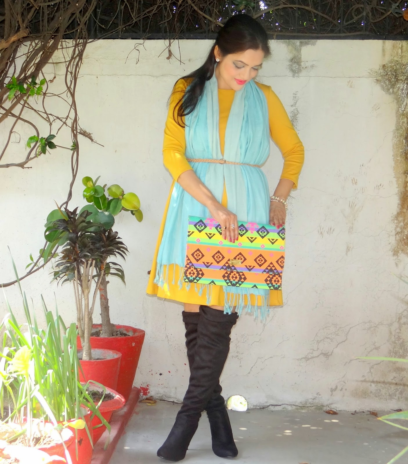 Spring colours and boots- outfit of the day