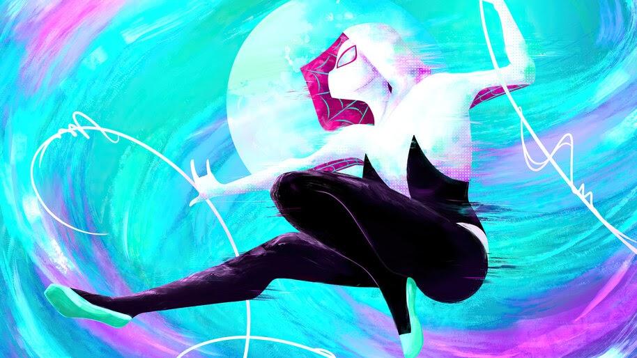 Spider-Gwen, Web Swing, Marvel, Superhero, 4K, #6.1320