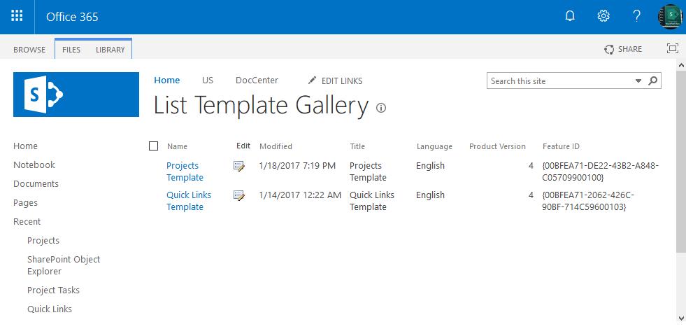 get list templates sharepoint online powershell