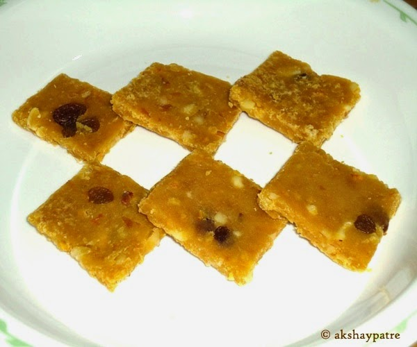 orange dry fruits barfi stored