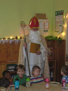 Ankunft des Nikolauses im Kindergarten