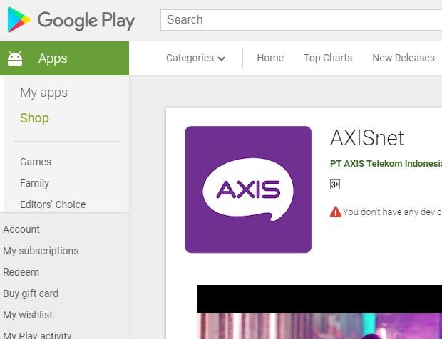 Menginstall Aplikasi AxisNet Untuk Dapat Paket Axis Murah