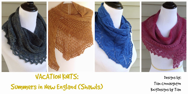 Vacation Knits - Vol 1: Summers in New England (Shawls)