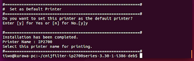 Install Canon Pixma IP2770 Driver in Ubuntu 15.04