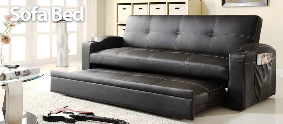 Sofa Bed Minimalis Bahan Kulit