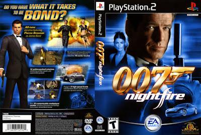 Jogo James Bond 007: NightFire PS2 DVD Capa