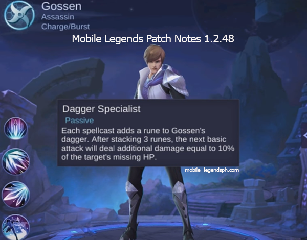 Mobile Legends Patch Notes Version 1.2.48 (Advance Server)