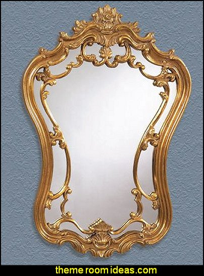 Bassett Mirror Hermosa Wall Mirror, Gold Leaf