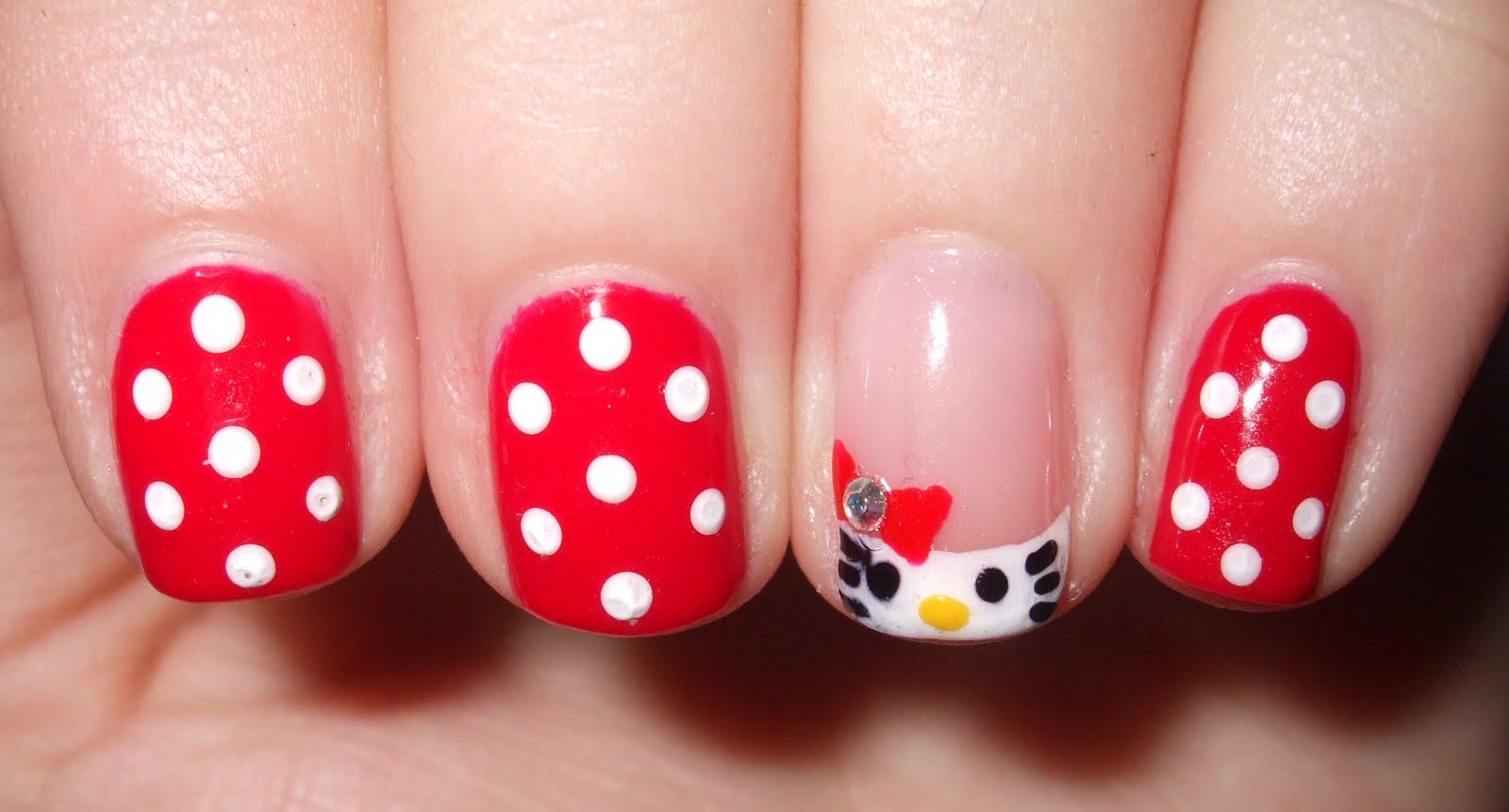 abbastanza URBANELYDECAYED: Hello Kitty! Shellac Nail Art RU77