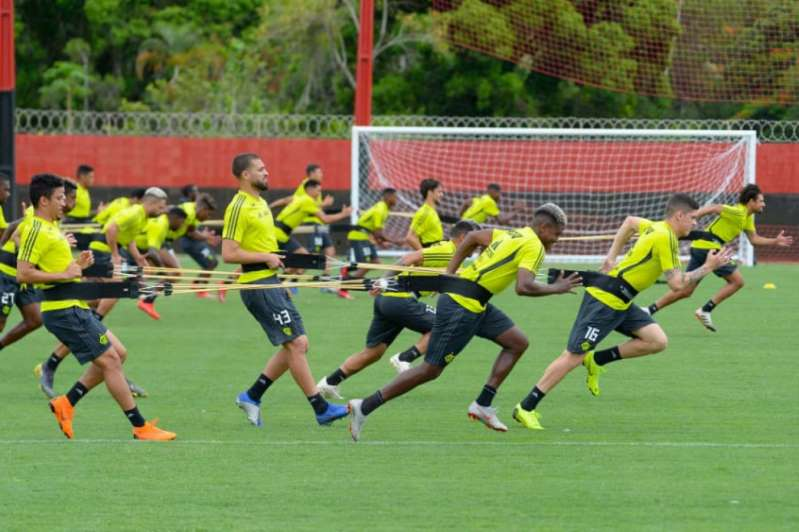 Flamengo volta a treinar no Ninho