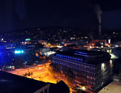 Zurich by night (industrial area)