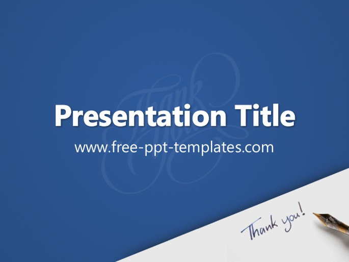 thank you ppt template, Modern powerpoint